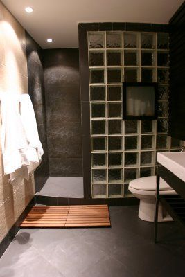 glass block shower designs alternative to the ceramic