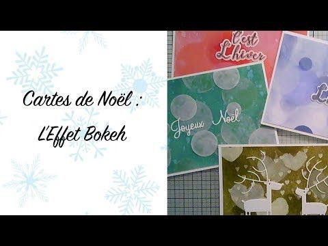 Cartes de Noël effet Bokeh   YouTube   Carte noel, Carte, Cartes