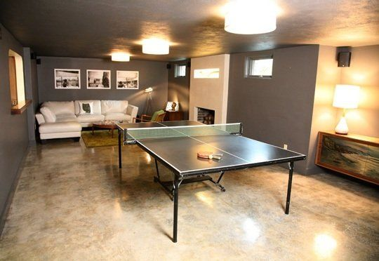Polished concrete and ping pong table