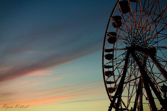 puyallup fair  #ferriswheel #sunset #silhouette - my man's beautiful work!