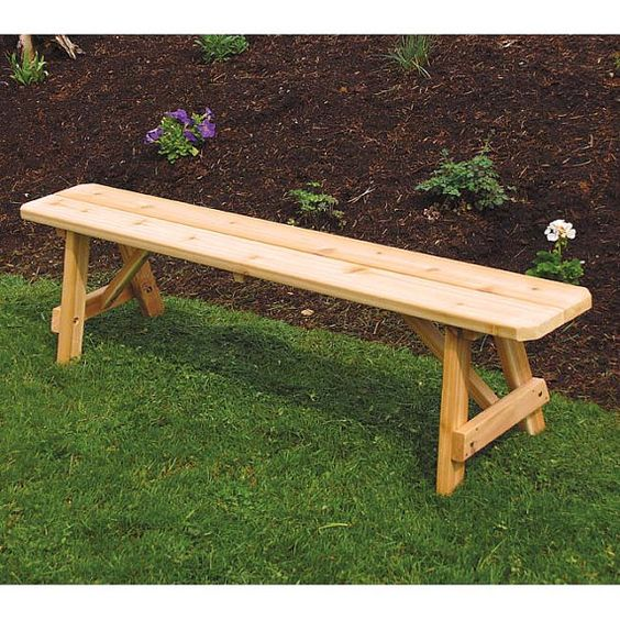 Red Cedar Traditional 8ft. Backless Bench by ALFurnitureCo on Etsy