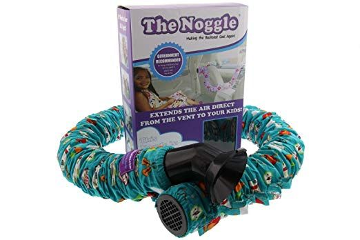 Noggle Extend Hot and Cold Air from Your Dash AC Vent to Kids in The Back Seat