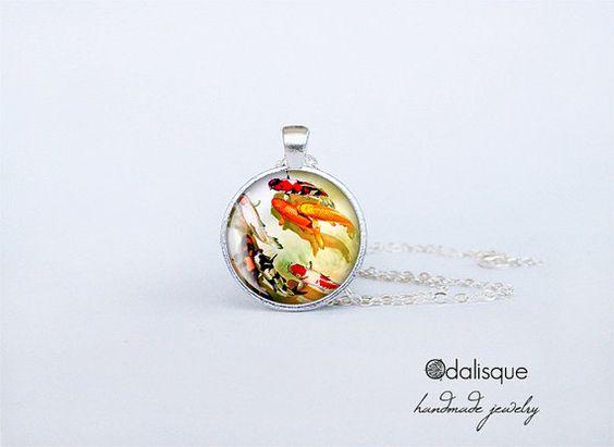 Koi Fish Pendant Handmade Asian Art Necklace by OdalisqueShop