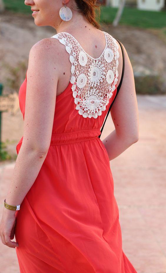 Fashionblogger   coral   dress   kleid   asymmetrisch   asymmetric   koralle   orange   girl   beautiful   Justmyself   Spitze   lace
