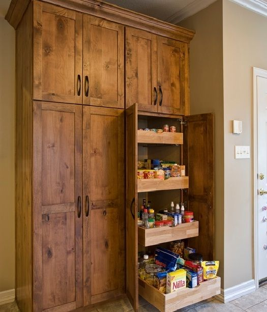 Large Freestanding Pantry Cabinet With Pull Out Shelving Home Interiors Pantry Cabinet Free Standing Pantry Cabinet Kitchen Pantry Cabinets