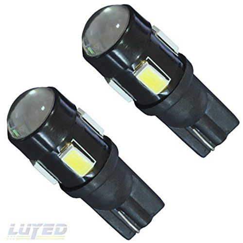 LUYED 2 x T10 5630 6-smd 240 Lumens White Color W5W 194 168 2825 LED Bulbs used for Signal Lights, Trunk Lights, Dashboard Lights, Parking Lights LUYED http://www.amazon.com/dp/B017OXLMH0/ref=cm_sw_r_pi_dp_H9.wwb08BPE1H