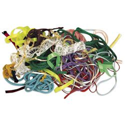 Trimming Value Pack - Pkg. of 40 yds. Assorted colors of piping, extra space rickrack, braid, and metallic trims. Great for finishing off any art and craft project. A real value! Approximately 40 yards in each package.