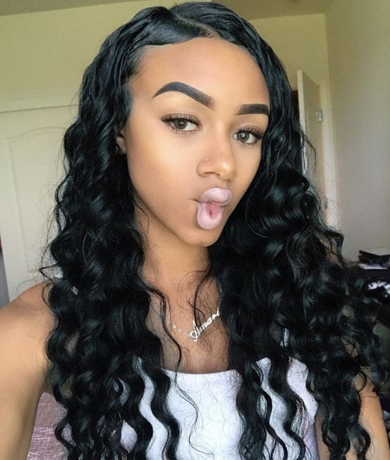 Pin By Jeff On 1145 Weave Hairstyles Curly Hair Styles Brazilian Remy Hair