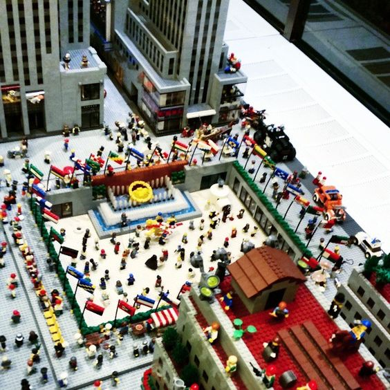 Rockefeller Center made out of Lego! #rockefellercenter #newyork #lego