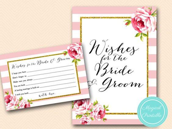 BS11-wishes-for-bride-groom-sign-pink-floral-bridal-shower-games