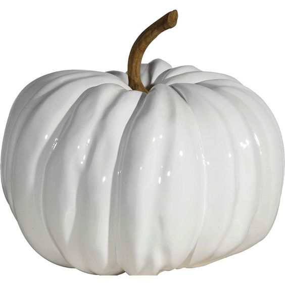 Nice DK Living White Pumpkin ($82) ❤ Liked On Polyvore Featuring Home, Home Decor