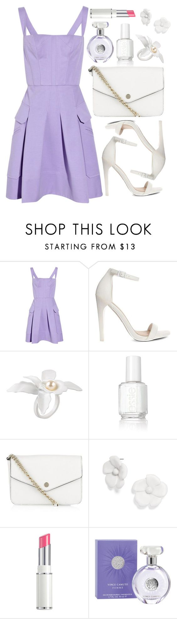 """""""Untitled #3592"""" by natalyasidunova ❤ liked on Polyvore featuring Versace, ASOS, Jenny Packham, Essie, MICHAEL Michael Kors, BaubleBar, Lancôme, Vince Camuto, women's clothing and women"""