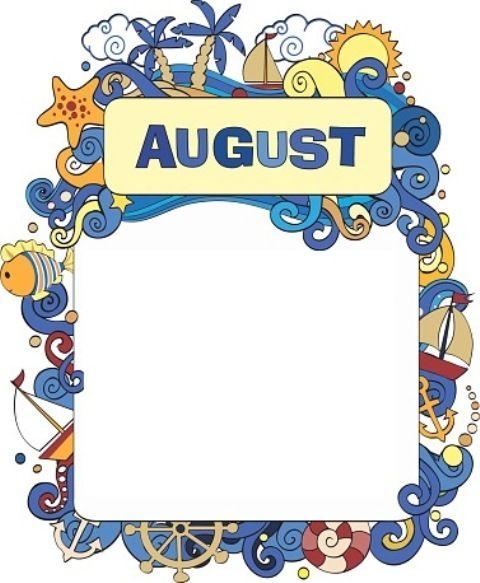 43+ August calendar clipart free information