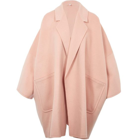 Light Pink Oversized Coat