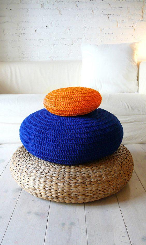 Piso amortiguador Crochet - azul