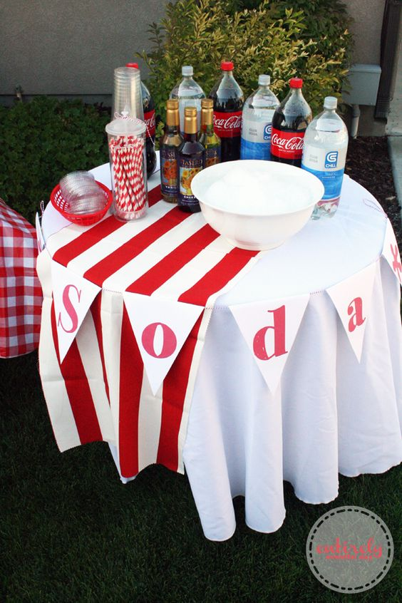 Entirely Eventful Day: Red and White Retro Barbecue Party Ideas