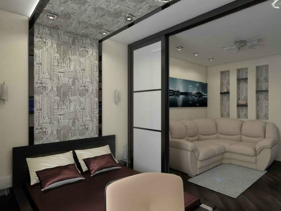raumteiler schlafzimmer wohnzimmer schiebetür schwarz weiß farbduo - wohnzimmer design schwarz weis
