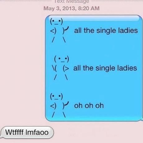 All the single ladies...