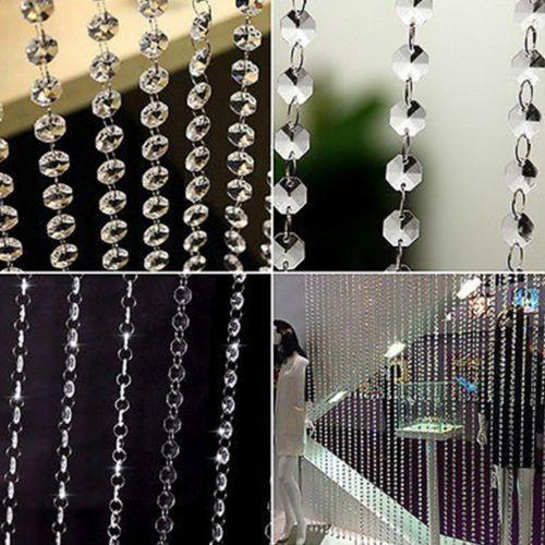 Room Beads Crystal String Diamond Curtain Door Window Beads Panel Tassel Divider