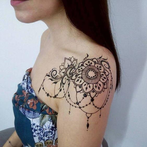 107 Tatuajes Mandalas En El Hombro Actualizado Lace Tattoo Shoulder Tattoos For Women Shoulder Tattoo