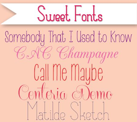 Sweet Fonts – Make Your Own Baby Announcements Free