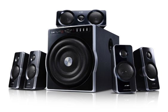 F F6000 - 5.1 Speakers   Awesome awesome Bass ... Love the Sound of it .