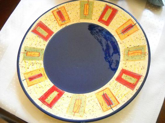 "4 Pfatzgraff Sedona Design 9 1/8"" Salad Luncheon Plates Multi Color Hand Painted | eBay"