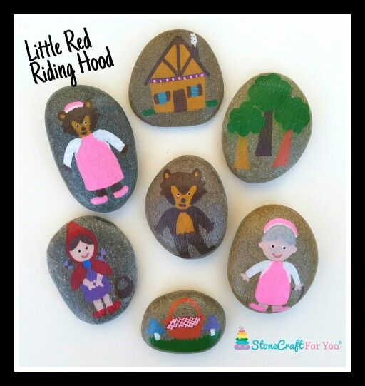 Little Red Riding Hood Story Stones   You can find me on facebook https://m.facebook.com/stonecraftforyouuk