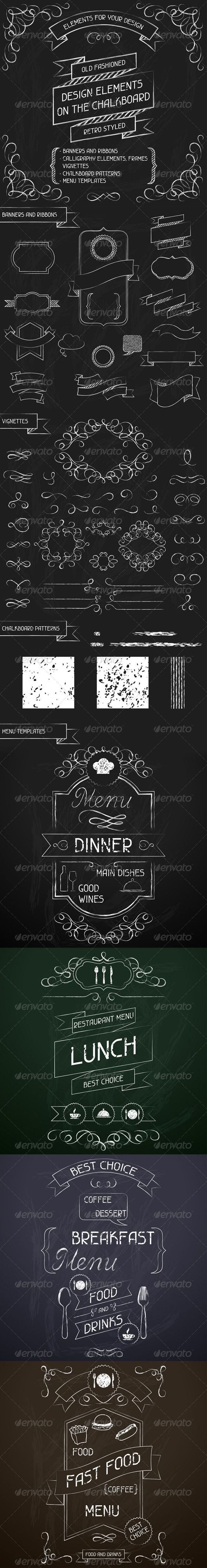Chalkboard Designs 30 Hand Drawn Corner Clipart Chalk And Black Scrapbook Embellish
