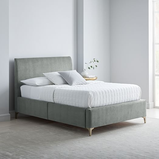 Andes Deco Upholstered Storage Bed With Images Bed Frame With