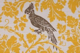 Premier Barber Slubbed Drapery Fabric in Corn Yellow/Kelp $8.95 per yard  CODE: 3606 33.4  Price: $8.95