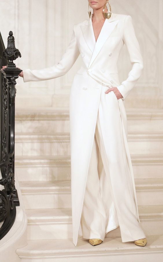 More Wedding Wear Trends White Suits And Separates Bespoke Beloved Summer Outfits Women 30s Summer Outfits Women Tuxedo Women