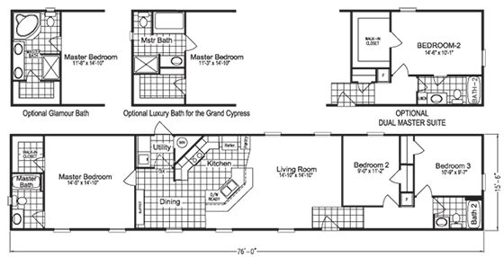 Single Wide Mobile Home Floor Plan 756CT | Straw Bale/Small Houses |  Pinterest | Single Wide, House And Cabin