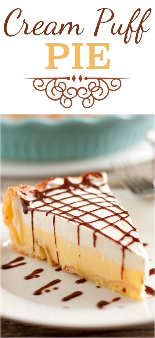 Cream Puff Pie (aka Eclair Cake) Dessert Recipe via Cooking Classy - this is the EASIEST pie you'll ever make and it tastes just like a cream puff! Everyone is always fighting for the last slice when I take it to parties! Favorite EASY Pies Recipes - Brunch Dessert No-Bake + Bake Musts