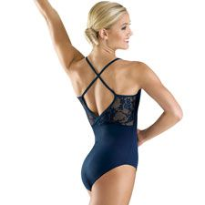 Floral Lace Cross-Back Camisole Leotard; Balera || I think I'd want it in black, but still, I love this!