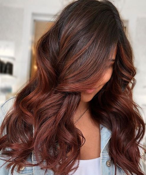 Here S How To Get Cinnamon And Chestnut Highlights On Dark Hair