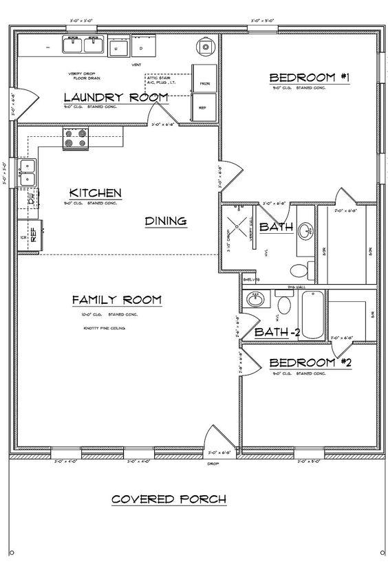 Barndominium and metal building specials cabin style for 3 bedroom barndominium floor plans