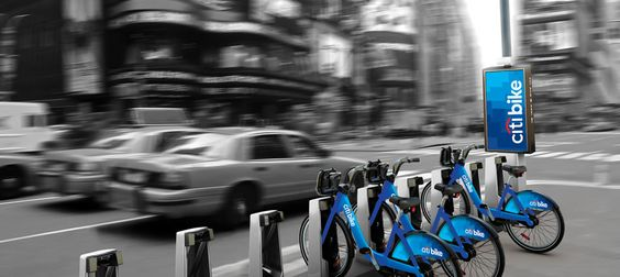 A CitiBike? Pick up & drop off bike sharing for commuting around the city ... cool idea for those who love 2 wheels!