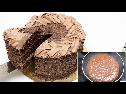 Eggless Chocolate Cake I Cake On Fry Pan I Without Oven Youtube