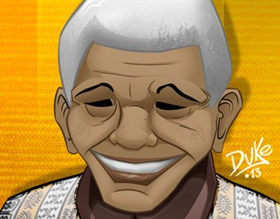 "Check out new work on my @Behance portfolio: ""Mandela Poster. (Ilustración original)"" http://on.be.net/1IrbOOP"