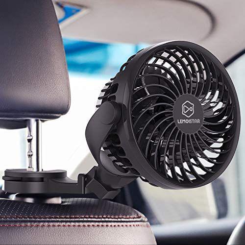 Lemoistar Battery Operated Usb Car Fan Electric Car Cooling Fan