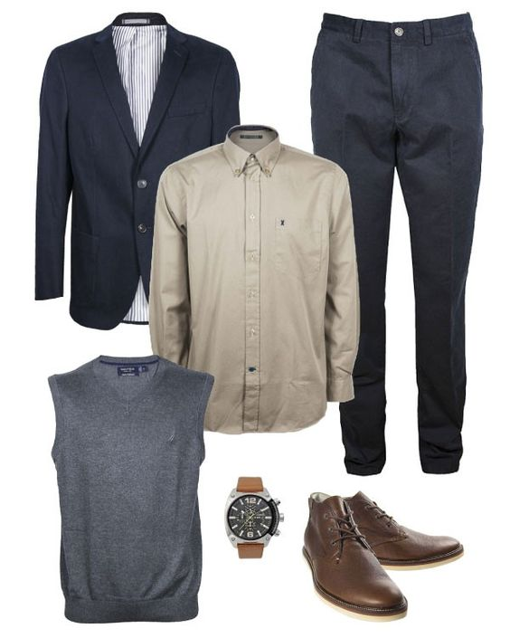 Sweater vest outfit -formal
