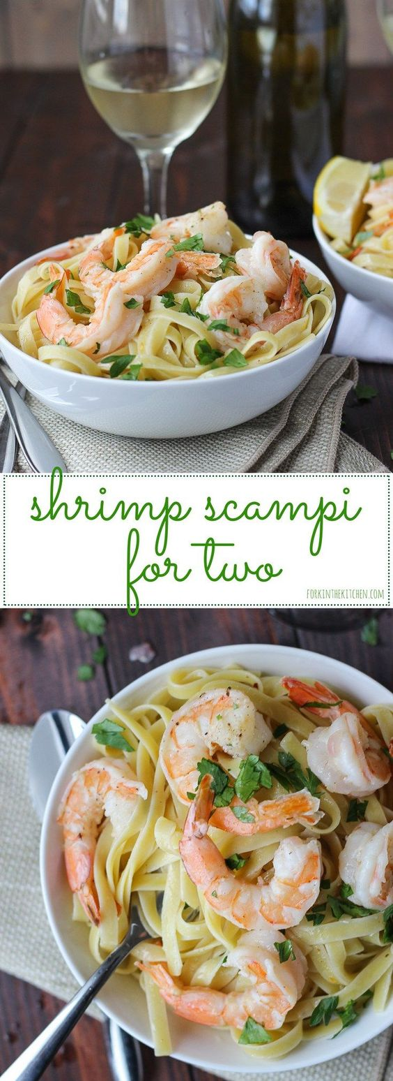 Shrimp Scampi for Two Recipe via Fork in the Kitchen