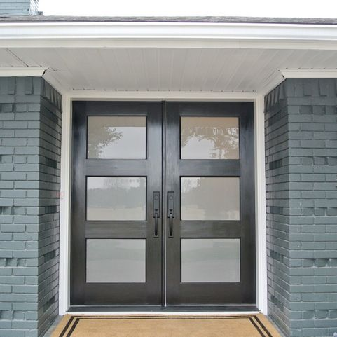 Double Glass Entry Door Home Design Ideas, Pictures, Remodel and Decor