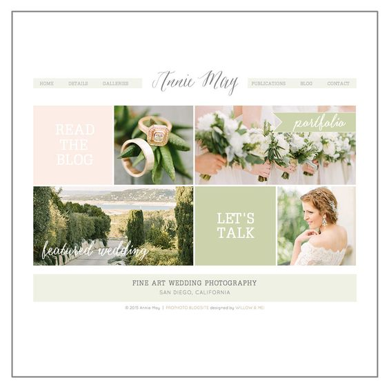 A Pretty Watercolor Website Design Running on an Angie Makes ...