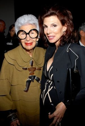 Iris Apfel at the Ralph Rucci Spring 2010 show.jpg I love older and fashionable women! Just Beautiful!