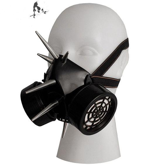 cyber-goth gas mask