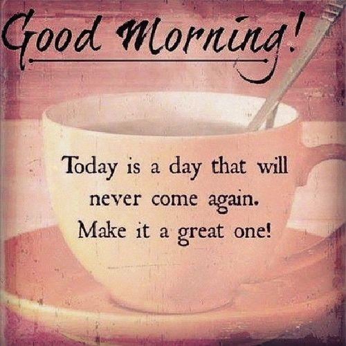 Sweet way of saying good morning