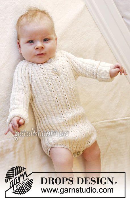 Схема вязания ажурного платья для новорожденной