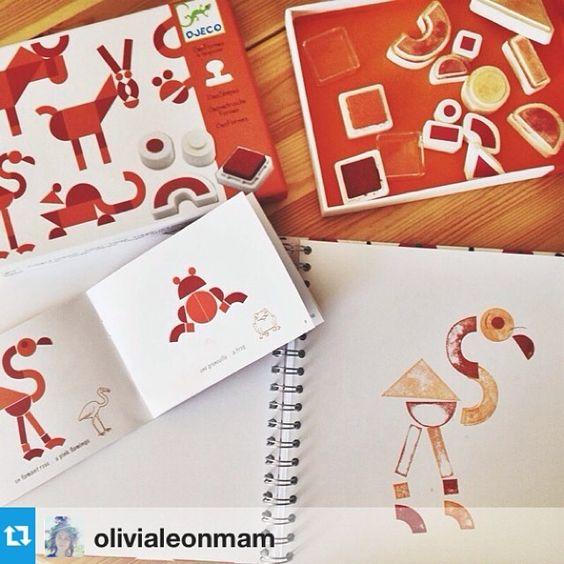 Творческий набор с печатями Таграм от Djeco